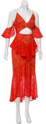 Rebecca Vallance Lace Cutout Dress