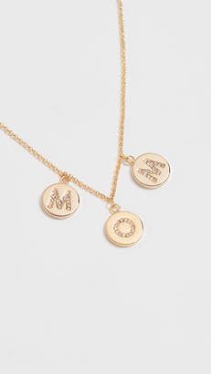 Kate Spade Mom Knows Best Pave Mom Charm Necklace