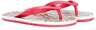 Dolce & Gabbana TEEN leopard print flip-flops