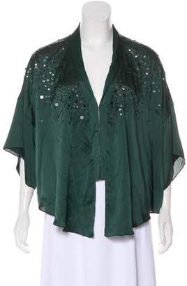 Elizabeth and James Silk Embellished Top w/ Tags
