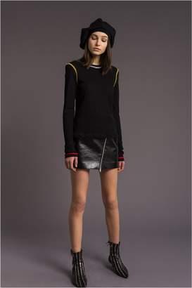 Sonia Rykiel Tri-Colour, Long-Sleeve Cotton T-Shirt