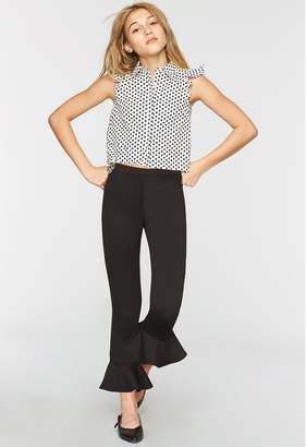 Milly Minis MillyMilly Ponti Jersey Cropped Flare Pant