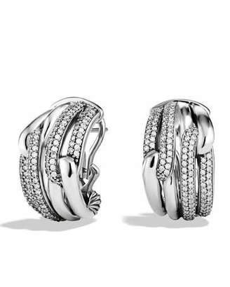 David Yurman Labyrinth Double-Loop Earrings with Diamonds