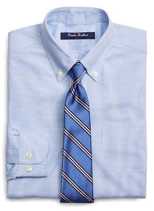 Brooks Brothers Boys' Mini Houndstooth Dress Shirt - Little Kid, Big Kid