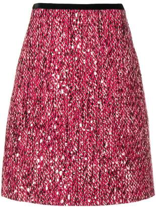 Gucci sequinned tweed skirt
