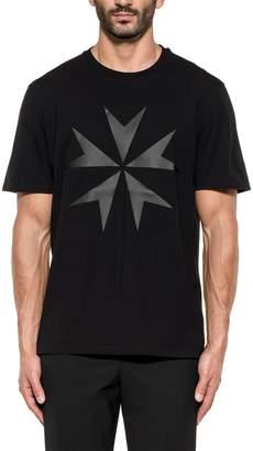 Neil Barrett Black Printed Military Star Cotton Jersey T-shirt