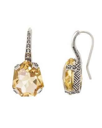 Stephen Dweck Galactical Drop Earrings, Champagne Quartz