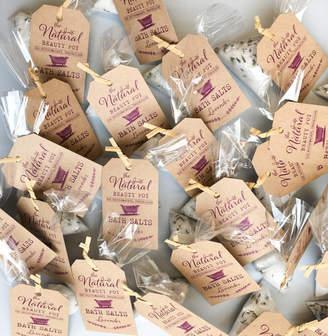 The Natural Beauty Pot Organic Bath Salts Wedding Favours 20, 50, 100