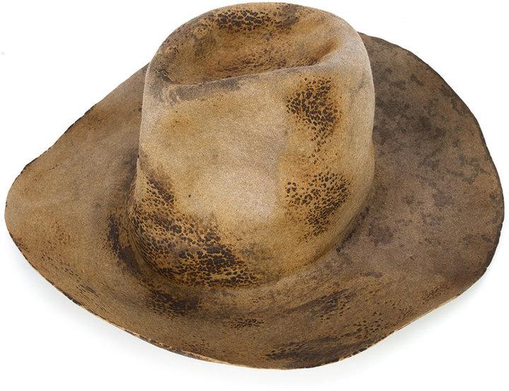 Horisaki Design & Handel burned effect panama hat