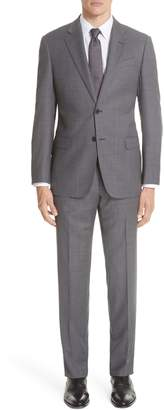 Emporio Armani G-Line Trim Fit Bird's Eye Wool Suit