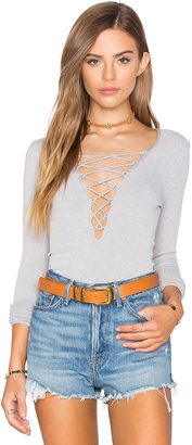 Free People Seamless Lace Up Top $58 thestylecure.com