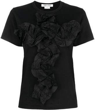 Comme des Garcons folded lace front T-shirt