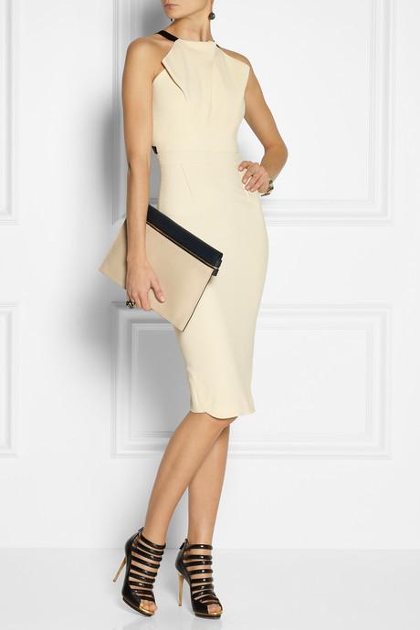 Roland Mouret Abbotsford crepe dress