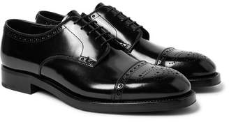 Prada Cap-Toe Spazzolato Leather Brogues