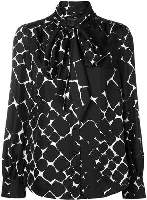 Marc Jacobs abstract diamond pussy bow shirt