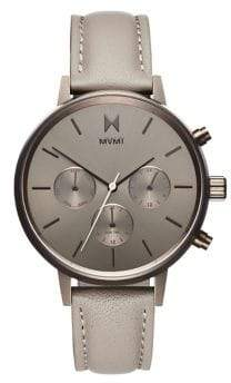 MVMT Nova Multifunction Lyra Stainless Steel Leather-Strap Watch