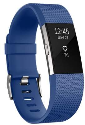 Fitbit Fitness Watch Gear Pure Silicone Wristband | Replacement Band for Charge 2 | Water and Sweat Resistant Wristband By Element Works ( Small ) - Blue