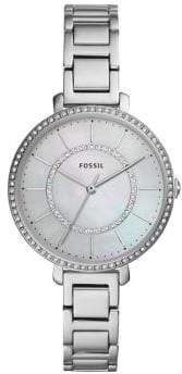 Fossil Virginia Three-Hand Crystal Stainless Steel Bracelet Watch