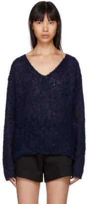 Rag & Bone Navy Freda V-Neck Sweater