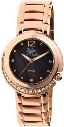 Freda Lisbon Black Dial Ladies Watch