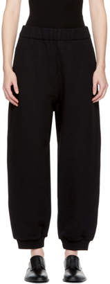 Alexander Wang Black High-Rise Fleece Lounge Pants