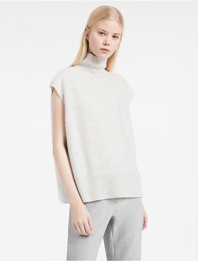 Calvin KleinPlatinum Boiled Cashmere Sleeveless Top