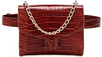 Max Mara Linda Small croc-effect leather belt bag
