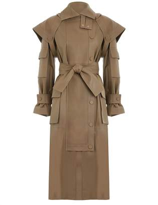 Unbridled Leather Overcoat