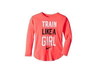 Nike Train Like a Girl Modern Long Sleeve Tee (Little Kids)