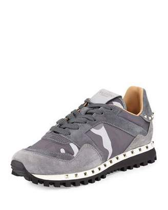 Valentino Camouflage Rockrunner® Sneaker, Past Gray $795 thestylecure.com