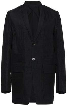 Rick Owens single breasted shawl collar blazer
