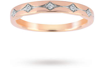 18ct Rose Gold 0.05cttw Band Ring