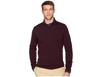 Perry Ellis Cotton Modal 1/4 Zip Sweater
