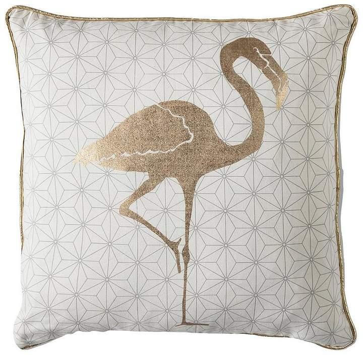 Golden Geo Flamingo Cushion