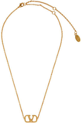 Valentino Gold Garavani VLogo Necklace