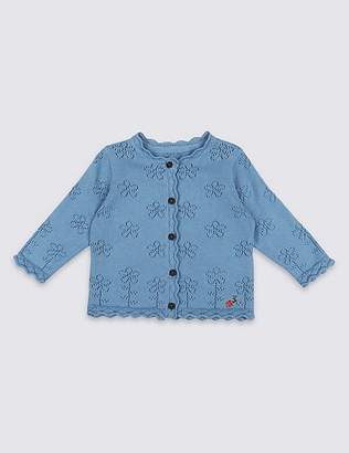 Marks and Spencer Pure Cotton Knitted Cardigan