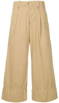 Kolor wide leg cropped trousers