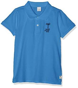 Scotch & Soda Shrunk Boy's Garment Dyed Polo in Jersey Quality Shirt,(Size: 6)