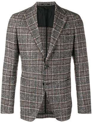 Tagliatore checked single breasted blazer