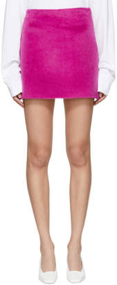 Helmut Lang Pink Re-Edition Brushed Fuchsia Miniskirt