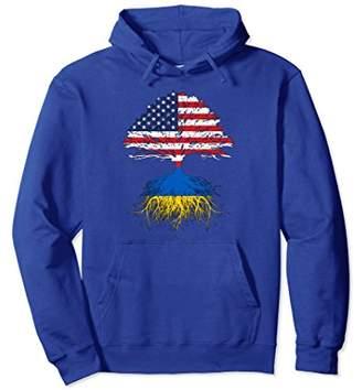 Ukrainian Roots American Grown Ukraine Hoodie Sweatshirt