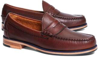 Brooks Brothers Tumbled Leather Popped Midsole Penny Loafers