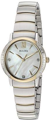 Bulova Women's Quartz Stainless Steel Casual WatchMulti Color (Model: 98R231) $450 thestylecure.com