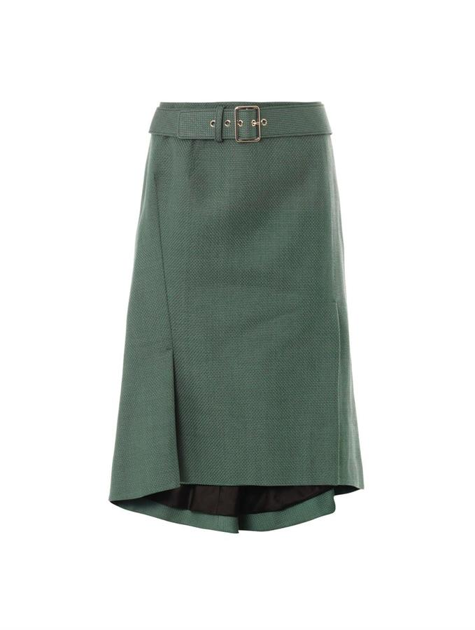 Jil Sander Rhodes macro-canvas skirt