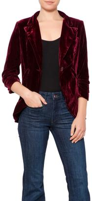 Esley Garnet Velvet Blazer $79 thestylecure.com