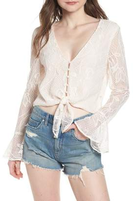 WAYF Piacenza Lace Crop Top
