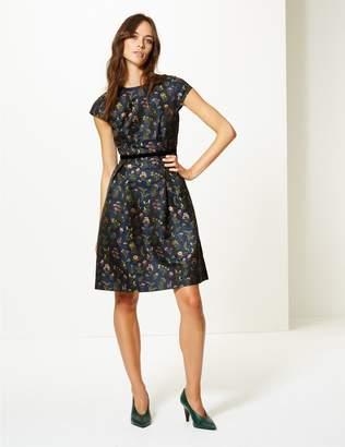 Marks and Spencer Floral Print Cap Sleeve Skater Dress