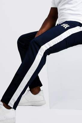 boohoo Big & Tall Tricot Joggers With Side Tape