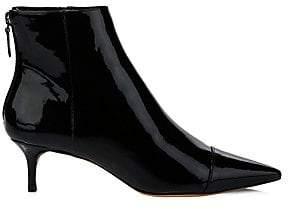 Alexandre Birman Women's Kittie Point Toe Patent Leather Booties