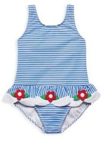 Florence Eiseman Baby Girl's& Little Girl's Seersucker Floral One-Piece Swimsuit